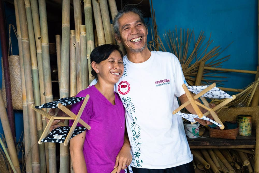 Putu and his wife Manik, always with their amazing Balinese smile!