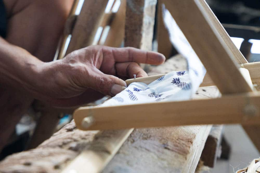 Each Bali Boo head Hammock is carefully handcrafted by Putu and his wife Manik