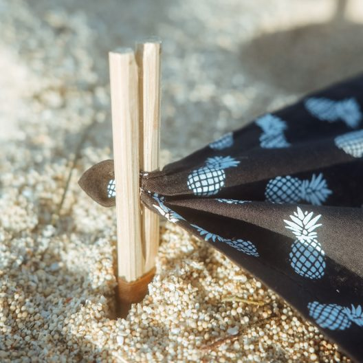 stick holders for sarong or beach towel of the becah headrest set of Bali Boo