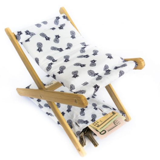 Money Pocket! Beach Headrest by Bali Boo - White